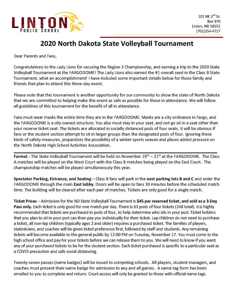 Volleyball State Details