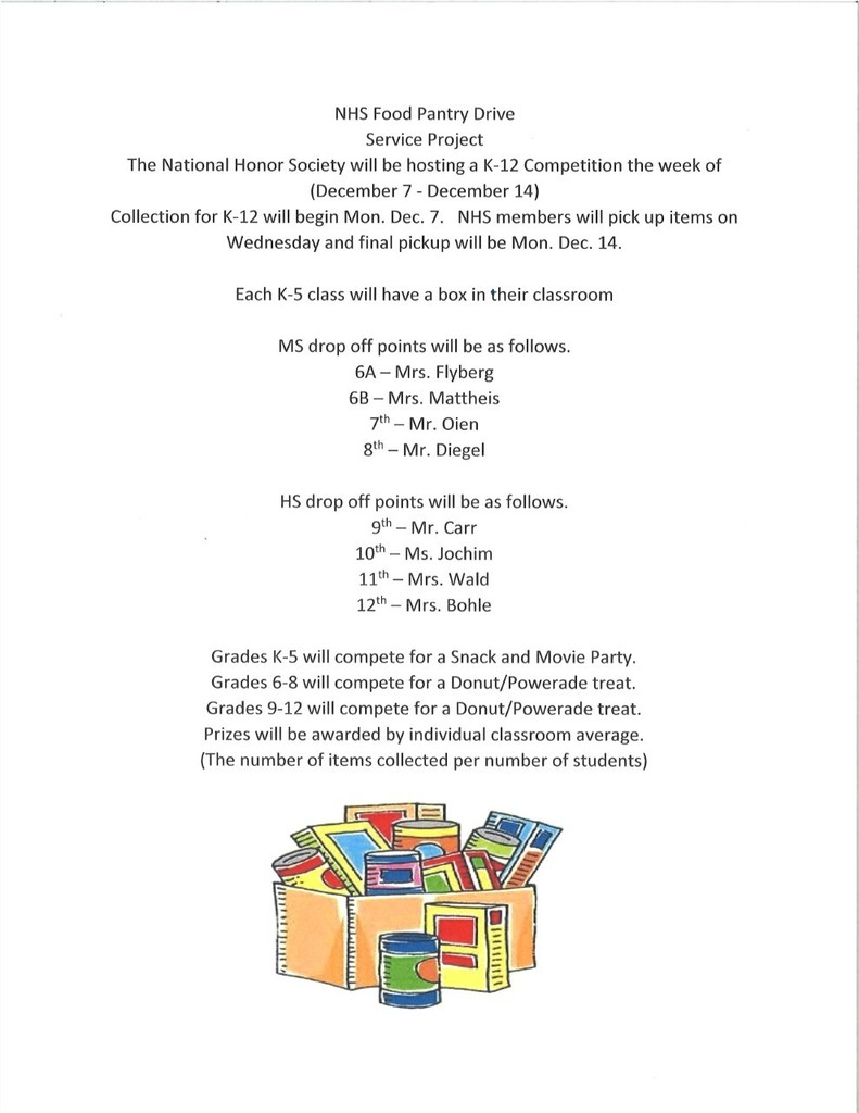 Picture of Food Pantry Drive Info