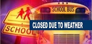 School Closing Announcement with Bus in background