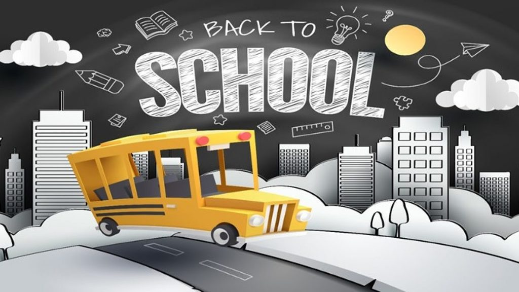 back to school/ bus